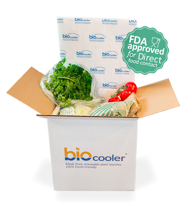 Biocooler compostable cold chain biobased packaging