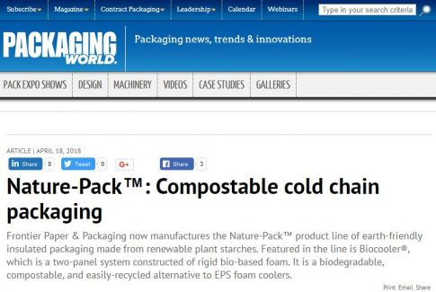 Packaging World Magazine Features Nature-Pack™ Biocooler®